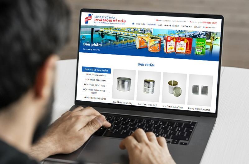 tiếp cận thiết kế website mỹ châu